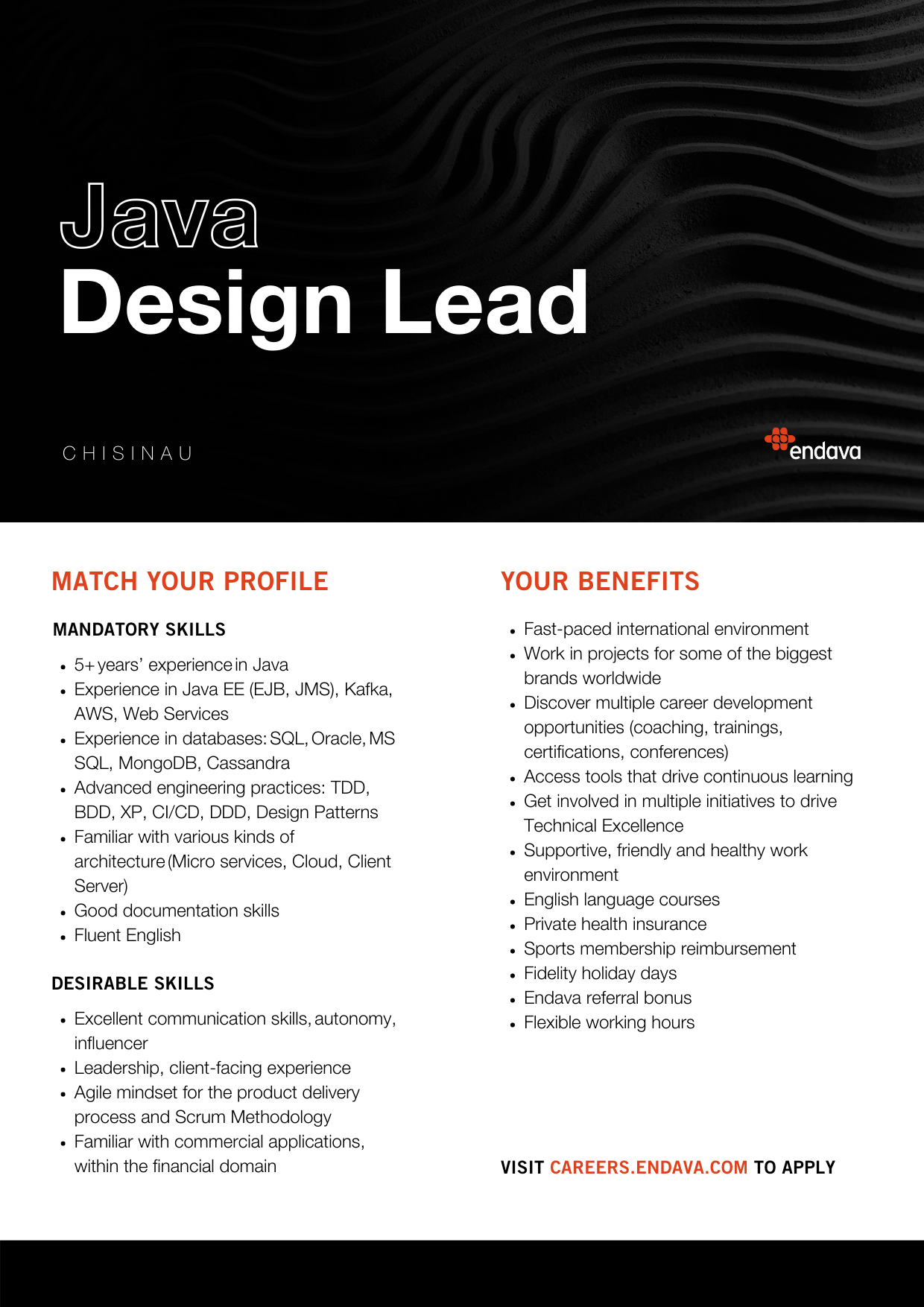 Java Design Lead at Endava