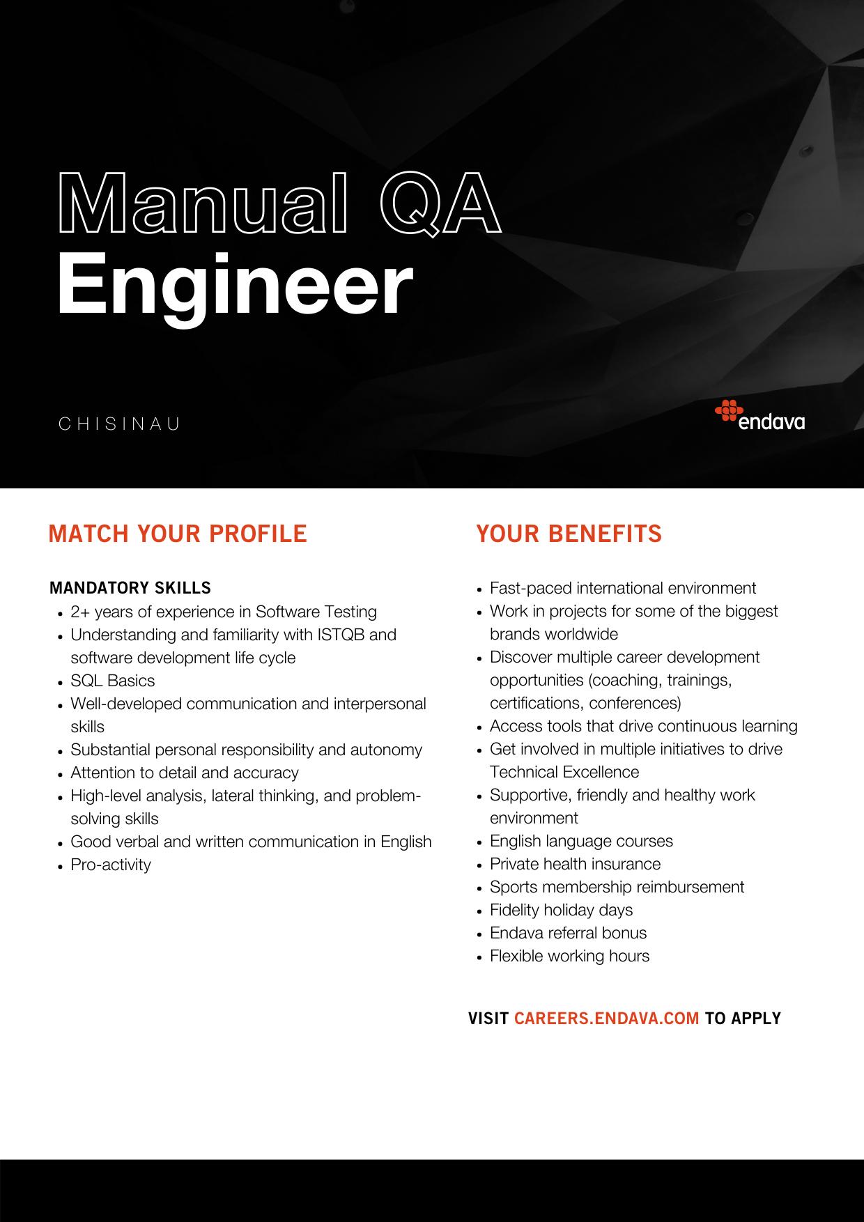 Manual QA Engineer at Endava